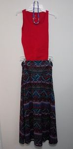 Other - Skirt, top, and necklace